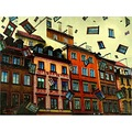 abstract surreal art old town warsaw windows architecture colours keitology