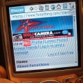 Palm Treo 650 Fotothing Blazer browser