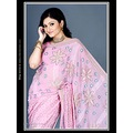 Light Pink Faux Georgette Saree with Blouse
