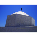 Aegina island Greece church monastery blue sky
