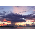 sky sea landscape nature clouds sunset