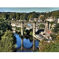 gorge waterside knaresborough yorkshire nidd river viaduct railway landscape