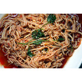 Cold stir-fried enoki mushrooms with chilli