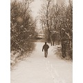 My hubby... we were out hiking through the snow LOL