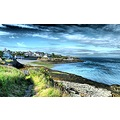 Moelfre Anglesey sea path village HDR wales