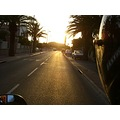 marseille sunset road moped