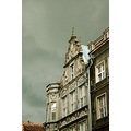 house roof dark clouds gdansk poland