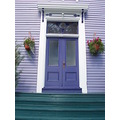 lavender house purple door