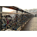 I'm told that each lock attached to this bridge over the Vistula River in Krakow represents a cou...