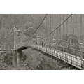 bridge bw sikkim india landscape