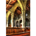 'Tideswell Parish Church': View of the Nave in the 'Cathedral of the Peak'.