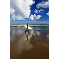 reflectionthursday muriwai beach surfer