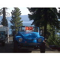 slug bug old baja convertible blue 4 points