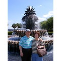 My parents in front of the Pineapple fountain in Charleston South Carolina, April 2008