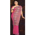 Deep Pink Georgette Saree with Blouse