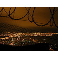 floripa brazil fence lights night yellow
