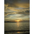 series reflection nature light water clouds sunset sky sun sea