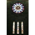 nelson nelsoncathedral stainedglass rosewindow