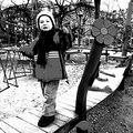 child playground winter Prague Bohemia