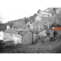 red wales blackandwhite landscape countryside cottage