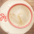 coffee pink cup circle curve