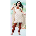 Light Fawn Cotton Kameez with Churidar