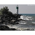 wellington ontario lighthouse small little rocks waves point