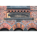 architecture brickwork relief lettering