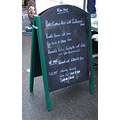 What a menu!  I had the pork, potatoes and courgettes.  Superb.