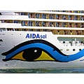 Aida sol Sunshine Eye Huge Cruisingship Copenhagen 2011 June Closeup
