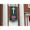 Center Church on the Green ~ Banner hanging over door.