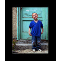 children portrait Budapest Hungary gypsy getto