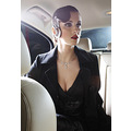 fashion glamour jewellery hair car interior gown evening stylization