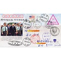 Henan Yanshi postmark USA national flag