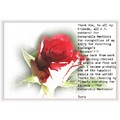 Rose flower nature red thank you jaro