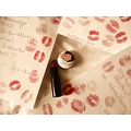 letter love kiss lipstick