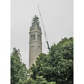 ucbfph tower campanile crane fog construction uc berkeley university ucb