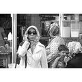 Portrait Istanbul Turkey Woman Modernity Mobilephone Veil Sunglasses
