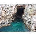 dubrovnik kroatia sea adriatic blue rocks cave lokrum