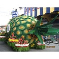 the product of Cagayan de Oro, Philippines (pineapple) but not for real but a float... lol