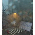 rain window reflection computer person umbrella