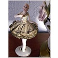 Dresden china damsel figurine doll