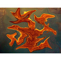 starfish tank glass sea creature abstract manipulated