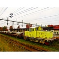 Yellow Cargo Train Astorp Skane Sweden 2012 October