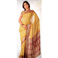 Light Beige Viscose Saree with Blouse