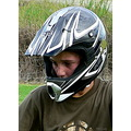 mountainbiker boy foxhelmet helmet safety closeup