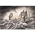 ship storm painting watercolour boat britain cartwright coal colin