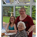 Mum's 89th birthday lunch October 2013  Lee decided I should be in a photo too! Nice one with m...