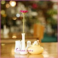 flower pink coffee shop table