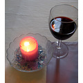 England wedding wine candle